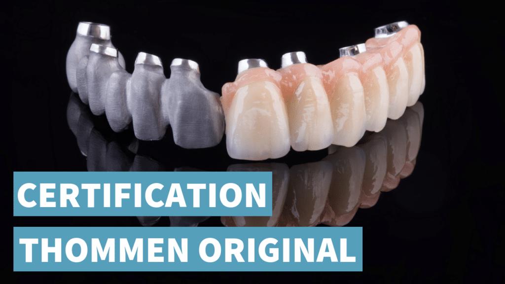 Certification Thommen original