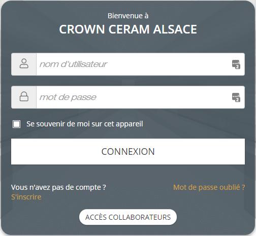 portail clients crown ceram